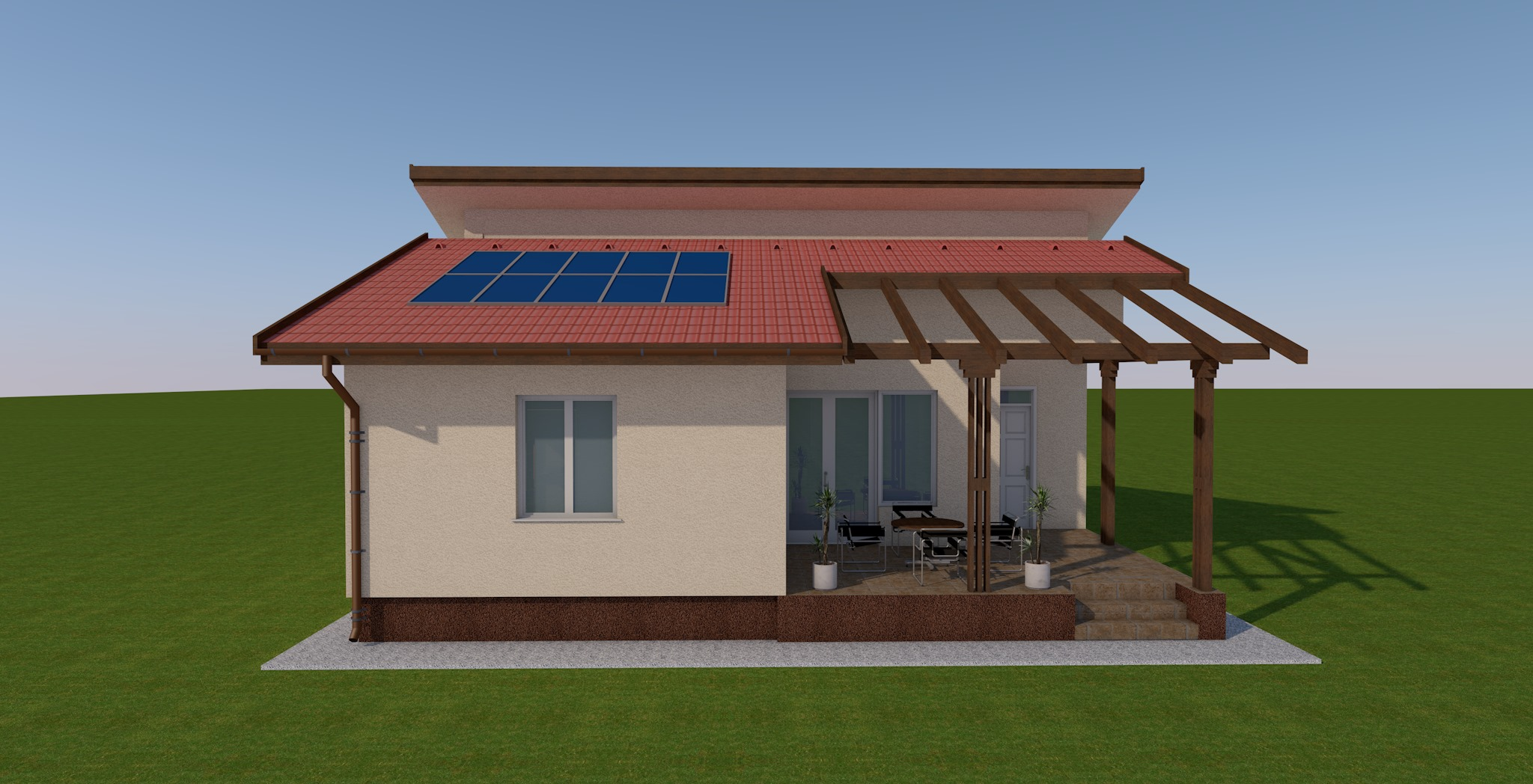 Új építésű Br. 98.62 m² Nappali + 2 szobás lakóház megrendelhető Kecskemét Vacsihegyben!