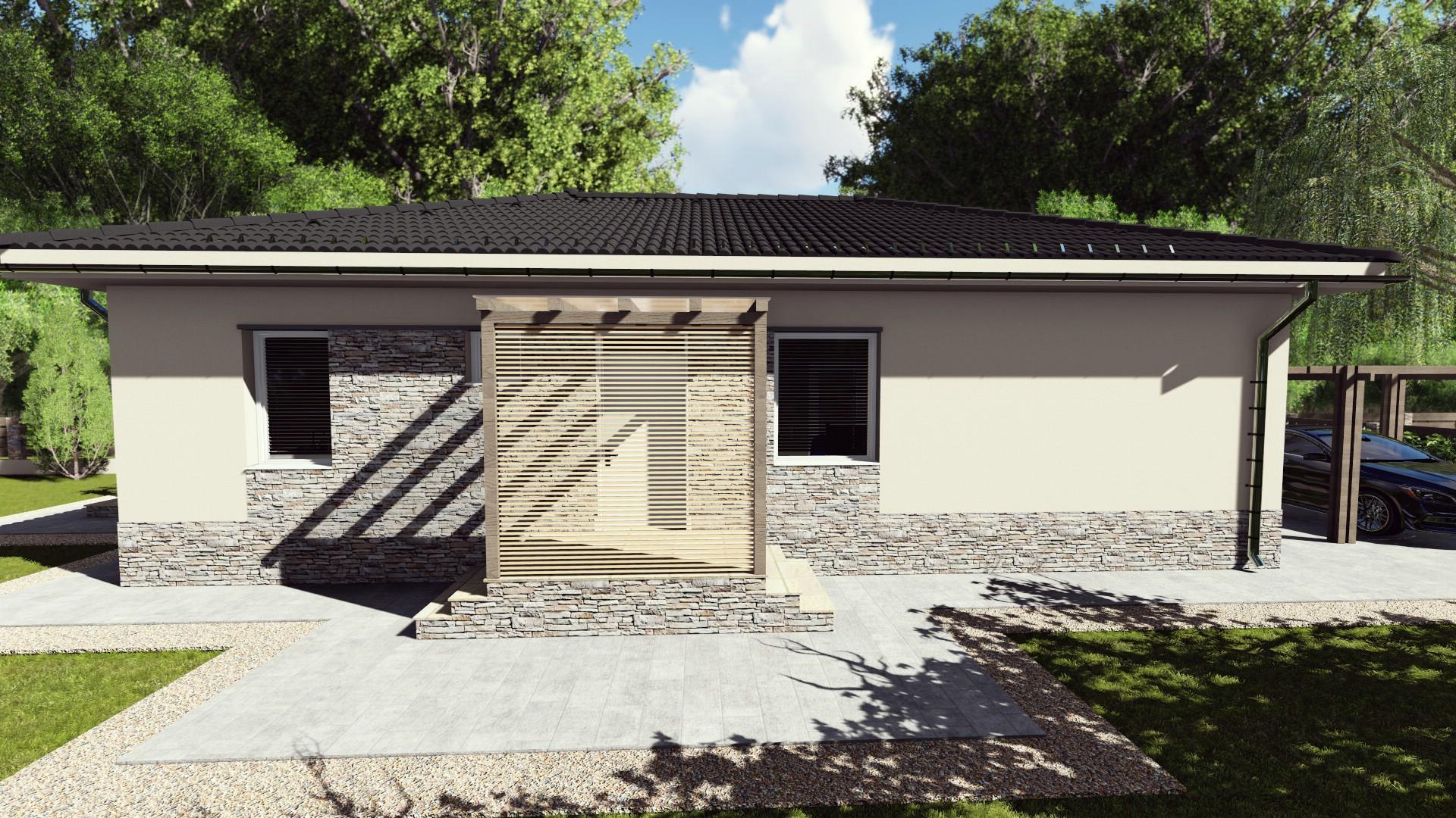 Új építésű nappali +3 szobás családi ház Kecskemét- Ballószög, saját teleken! 85 m²!