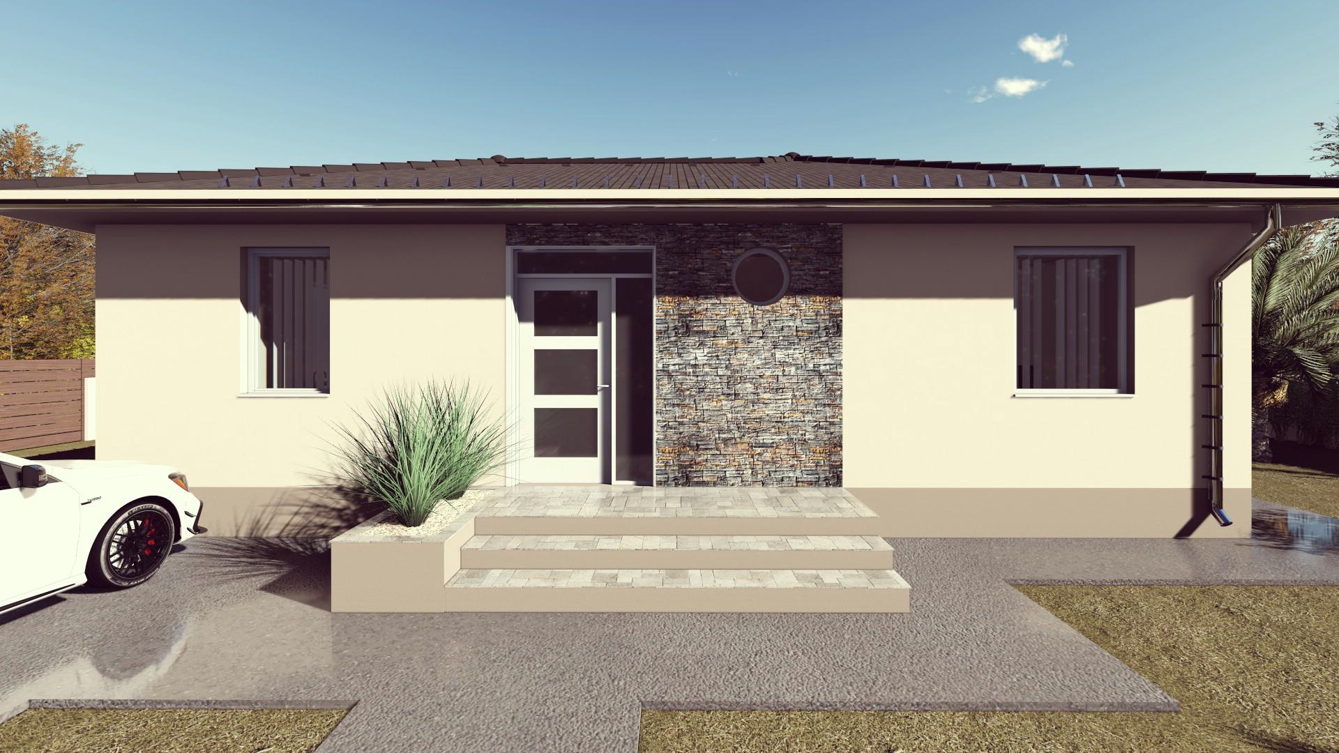 Kecskemét térségében megrendelhető 80 m² nappali+3 szobás családi ház saját telekre!