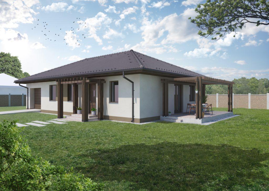 100 m²-es családi ház megrendelhető, + 20 m² garázzsal, saját telekre! 279 000 Ft/m²